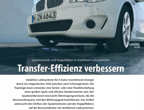 Specialist article: Improve Transfer Efficiency (coil losses and coupling factor in wireless charging systems)