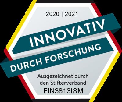 """Forschungssiegel """"Innovativ durch Forschung"""" vom Stifterverband für die deutsche Wissenschaft"""
