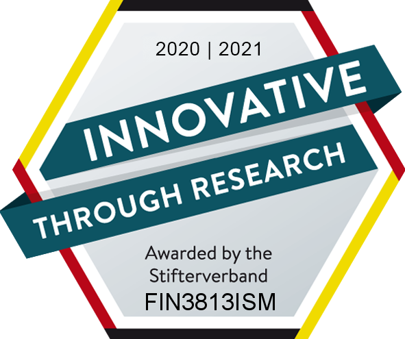"Research seal ""Innovative through research"" from the Donors' Association for the Promotion of Science and Humanities in Germany"