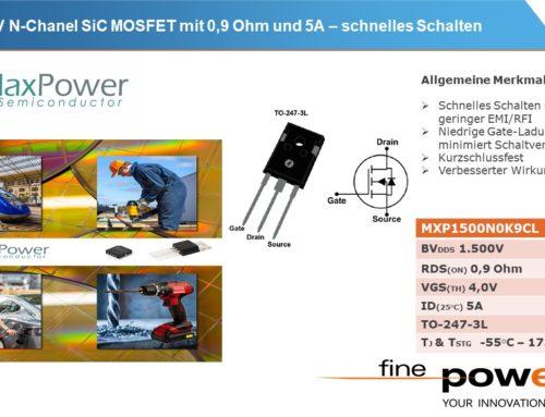 1500V N-Kanal SiC-MOSFET für Hilfsspannungsversorgungen