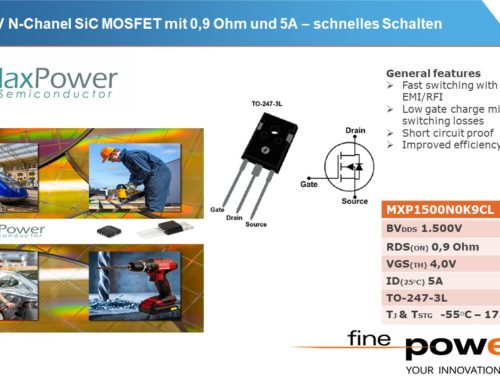 1500V N-Channel SiC-MOSFET for auxiliary power supplies